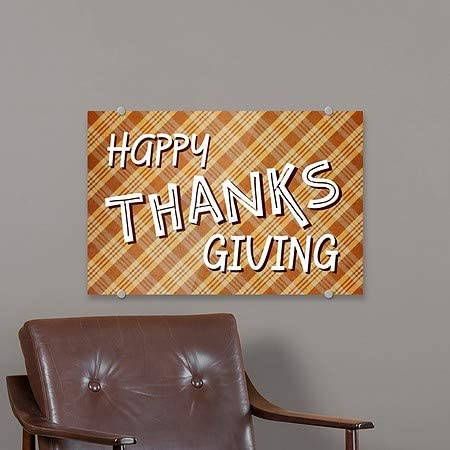 36x24 CGSignLab Inner CircleHappy Thanksgiving III Premium Acrylic Sign