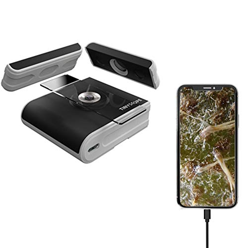 TinyScope Mobile Microscope, Make Your Phone be a Portable Microscope, 400X to 1000X Magnification Compatible with Smartphone Tablet Windows