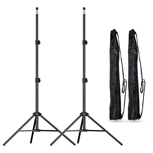 Emart - Soporte de trípode para fotografía de estudio de fotografía de 7 pies para softbox, paraguas, grabación de vídeo,...