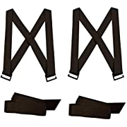 UlifeME Forearm Forklift Lifting Straps & Shoulder Harness Moving Straps Furniture Belt for Appliance, Heavy Objects and Large Items, 1 or 2 Person Adjustable Lift Straps, 800 Pound Carrying, Black