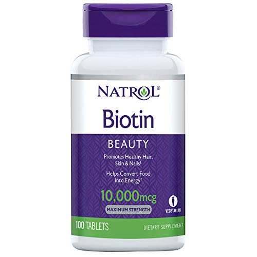 Natrol Biotin 10,000mcg, Maximum Strength, 100 Tablets [Kitchen]