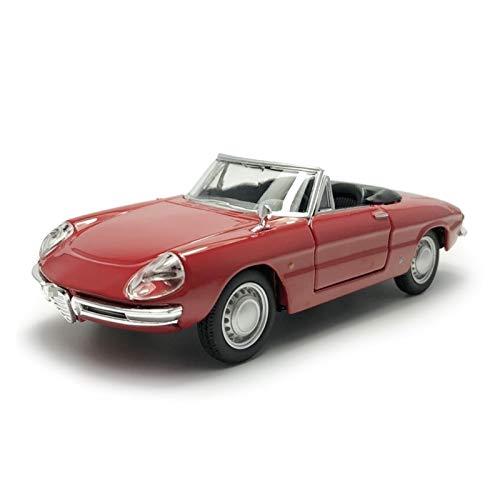 1:32 per Alfa Romeo Spider Modello di Auto d'Epoca in Lega di Metallo Modellini di Veicoli Giocattolo Modellini di Auto per Bambini Adulti Veicolo Pressofuso