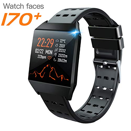 "Janker Smart Watch for Android Phones and iOS Phones, Fitness Trackers Watch for Men Women, Activity Tracker with HR Sleep Monitor,Light and Thin IP67 Waterproof 1.34"" Color Screen Smartwatch. Smartwatches"