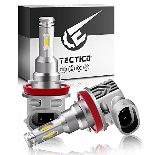 TECTICO H8 12V 40W 6000K LED Angel Eye Bulbs anillos de halo luces circulación diurna Faros antiniebla blanco Canbus sin errores para E90 E92 E93 E82 E91 E82 E70 X5 E60 E61,2 piezas