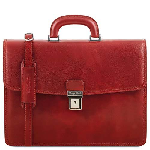 Tuscany Leather - Amalfi - Portafolio en Piel con 1 Compartimento Rojo...