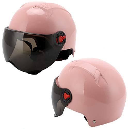 ZYW Moda Harley Casco De Moto Casco De Bicicleta Eléctrica Montar Unisex...