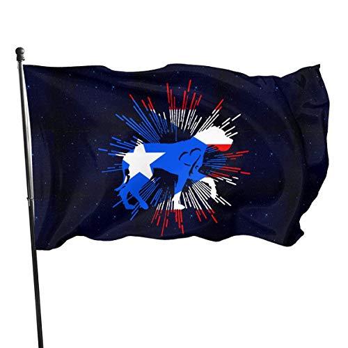 qinzuisp Garden Flag Great Dane Heart Puerto Rico Impresión Clásica Bandera Retro De Montaje En Pared Bandera De Jardín Toda La Temporada Bandera De La Casa Al Aire Libre Patio De Bienveni