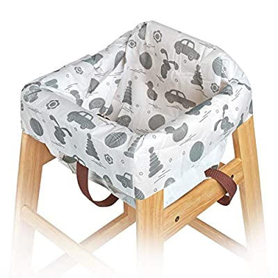 Disposable High Chair Covers for Restaurant and Home 10 Pack for Baby Kids Toddlers to Protect Against Germs and Messy Meals