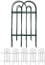 Amagabeli Decorative Garden Fence 32inx20ft Rustproof Green Iron Landscape Wire Folding Fencing Ornamental Panel Border Edge Section Edging Patio Fences Flower Bed Animal Barrier for Dog Outdoor FC02