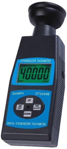 Shimpo ST-1000 ABS Plastic Stroboscope Tachometer with LED Flash Technology, 60-40000 RPM Range, -0.05% FS Accuracy, 7.7
