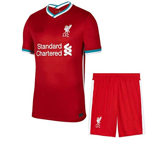 Football Liverpool Home Jersey with Shorts 2020-21 (XL-42) Maroon