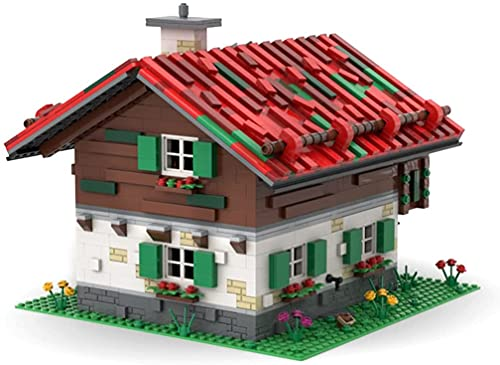 Modelo de ladrillos de granja compatible con Lego, MOC DIY simulación construcción colección arquitectónico juguete de construcción, MOC-55694 (2,375 piezas)