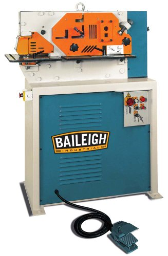 Review Baileigh SW-443 4 Station Hydraulic Ironworker, 3-Phase 220V, 44 Ton Pressure