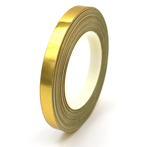 7m Chrom Zierstreifen 6,5mm von Finest-Folia GmbH Seitenstreifen Auto Motorrad Dekorstreifen (Gold Chrom)