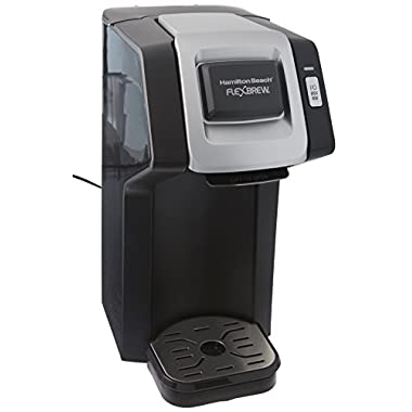 Hamilton Beach (49974) Single Serve Coffee Maker for K Cups and Ground Coffee, Flexbrew, Black