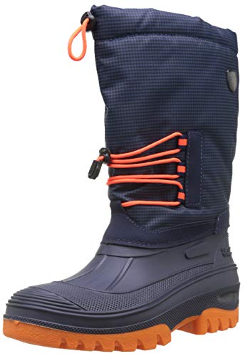 CMP Unisex Ahto Schneestiefel, Blau (B.Blue-Orange Fluo 18nd), 39 EU