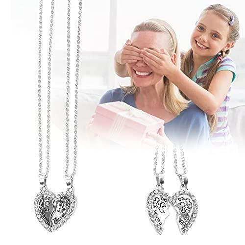 Collar con colgante en forma de corazón, collar de aleación duradera, aleación personalizada para fiestas, fiestas, bodas