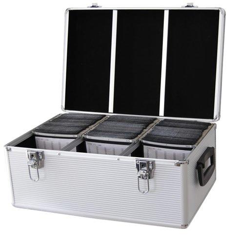 DYNASUN 510 er CD/DVD/BLU-RAY CD510 DJ PRO Koffer ALU Box für CDs/DVDs MP3 mit HÜLLEN und Schloss