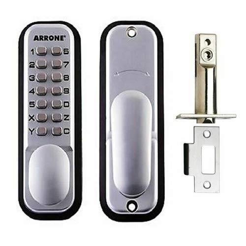 Hoppe 87128205 Arrone AR/D-195MC Digital Push Button Door Key Pad Lock - Silver