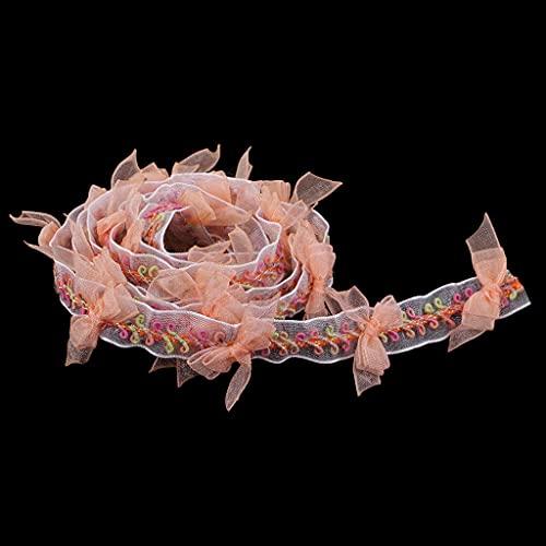 Diaod Bowknot Embroidered Organza Cinta de Encaje Aplique para Coser en Ropa Vestido Etapa de Traje Suministros de artesanía