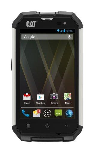 CAT B15 Smartphone (10,1 cm (4 Zoll) Touchscreen, 5 Megapixel Kamera, Dual Core 1 GHz Cortex A9, Android 4.1) silber