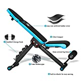 JX FITNESS Adjustable Weight Bench Home Training Gym Weight Lifting Sit Up Ab Bench Flat Incline Decline Multiuse Exercise Workout Bench