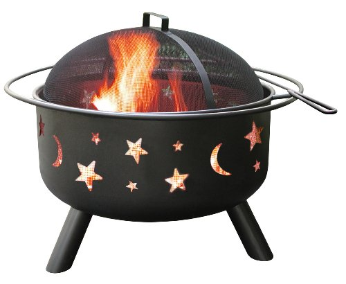 Find Discount Landmann 28345 Big Sky Stars and Moons Firepit, Black