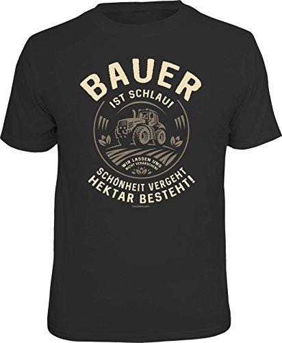 RAHMENLOS Original T-Shirt für informierte Landwirte: Bauer ist schlau… … XL Nr.6144