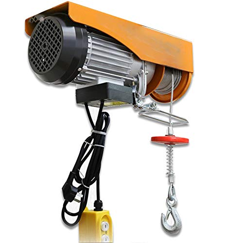 Mini polipasto eléctrico, cabrestante eléctrico de 220 V, Cable de elevación, 650...
