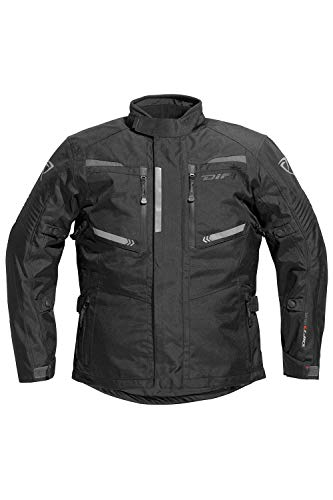 Difi STORM AEROTEX® Motorradjacke Farbe schwarz/dunkelgrau, Farbe schwarz/dunkelgrau, Größe 4XL