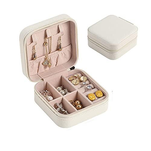 Joliy Organizador portátil de joyería de Viaje, Mini Caja de presentación de Cuero PU, Caja de joyería, Soporte para Pendientes de Almacenamiento, Regalo para niñas y Mujeres