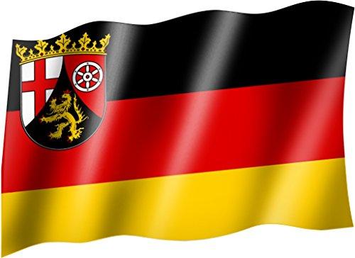 Flagge/Fahne RHEINLAND PFALZ Staatsflagge/Landesflagge/Hissflagge mit Ösen 150x90 cm, sehr gute Qualität
