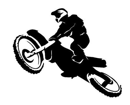 Generic 128/1/1 Autocollant pour Moto Motif Motocross 10 cm, 15 cm, 20 cm, 25 cm - 20cm - Gris foncé Mat