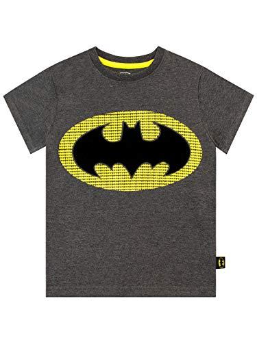 DC Comics Jungen Batman T-Shirt Grau 110