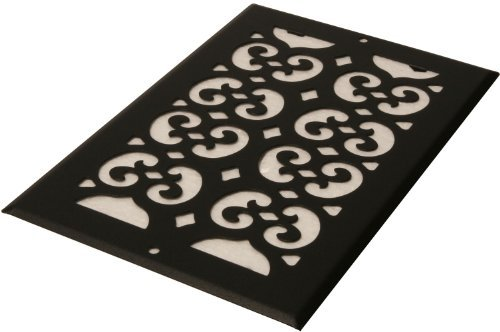 Decor Grates S610R 6-Inch by 10-Inch Painted Return Air, Black Textured by Decor Grates