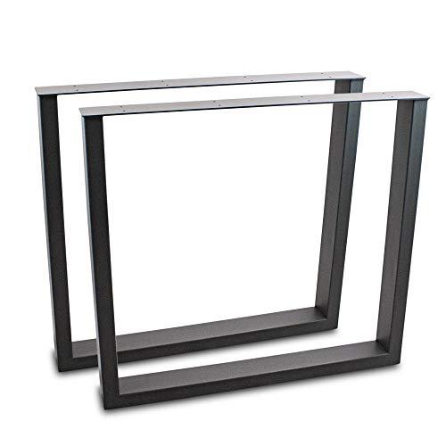 BITUXX® Tischbeine Tischkufen Tischgestell Tischuntergestell Stahl Metall Eckig (80x72, Schwarz)
