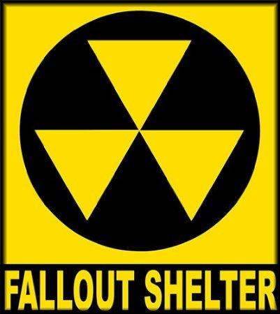 INDIGOS UG Aufkleber Autoaufkleber JDM Die Hart - Fallout Shelter Sign Bumper Sticker 114mmX127mm