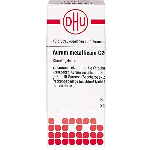 DHU Aurum metallicum C200 Streukügelchen, 10 g Globuli