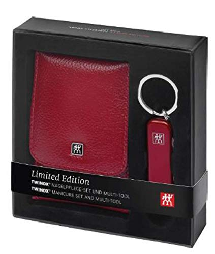 Zwillling Twinox Manicure Etui 4tlg.Taschenetui + Multitool/Taschenmesser rot