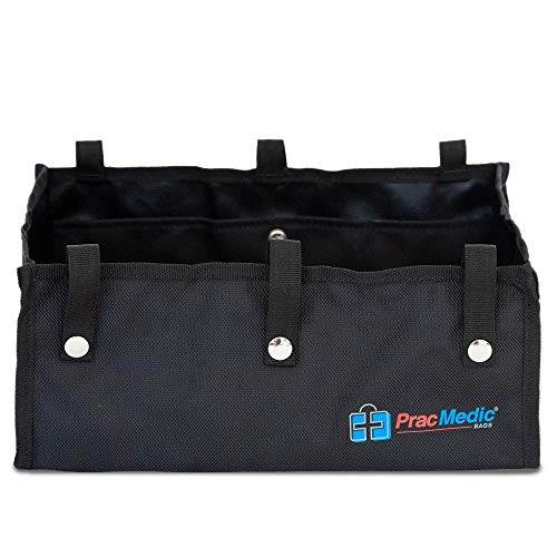 PracMedic Bags Under Seat Rollator Bag or Tote for Four Wheel Rollator or Walker -12.5' Long x 8.5' Wide x 5.5' High - Sold Empty (Black)