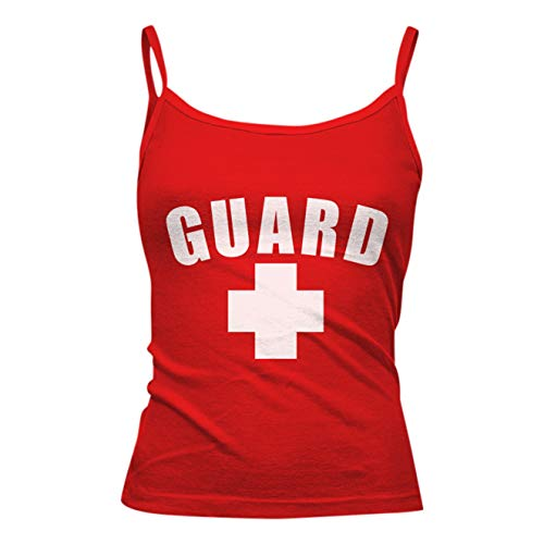 BLARIX Womens Guard Spaghetti Strap Tank Top (Red, Small)