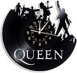 JLJL Reloj de Pared con Disco de Vinilo, The Queen Rock Music Band LED Lámpara de...
