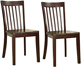 Kings Brand Furniture - Set of 2 Heavy Duty Solid Wood Room - Kitchen Side Chairs (Cherry)