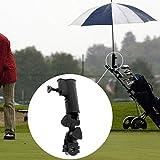 Alicer Outdoor-Regenschirmhalter, Verstellbarer Winkel Runde Ecke Easy Fix Golfwagen Regenschirmständer Angelstuhl Regenschirmhalter Outdoor-Zubehör