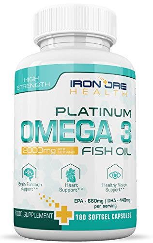 Triple Strength Omega 3 Fish Oil (2000mg) | 660 EPA 440 DHA per...