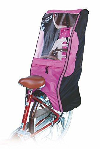 MARUTO - Copertura antipioggia per seggiolino bici per bambini, D5RCDX, Black / Pink, Universal fit on most rear child seats