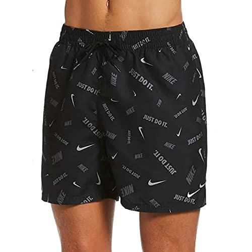Nike Volley - Costume da Bagno da Uomo, Uomo, Costume da Bagno, NESSB591-001, Nero, L