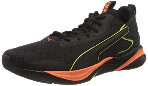 PUMA SOFTRIDE Rift Tech, Zapatillas para Correr de Carretera Hombre, Negro Black/Ultra Orange, 39 EU