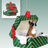Boxer Christmas Ornament Hanging Gift Box