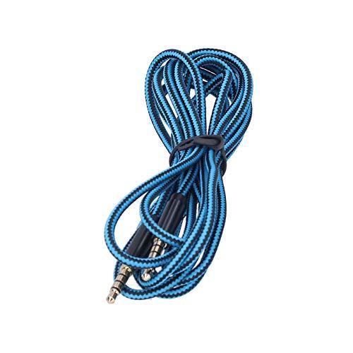 Cabo de fone de ouvido, conector de 3,5 mm a 3,5 mm Cabo de áudio de fone de ouvido com brilho e brilho para fones de ouvido para A30 A40 A10